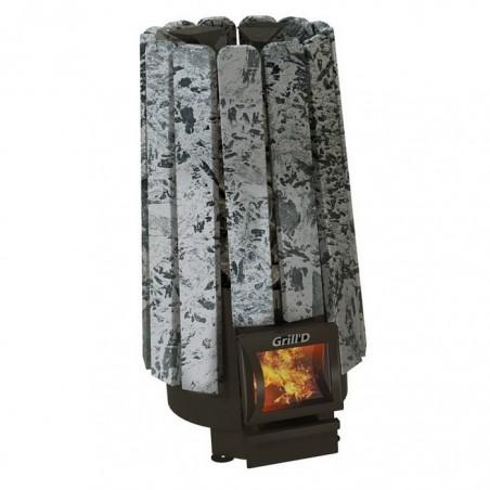 Печь для сауны Grill'D Cometa на дровах 180 Vega Short Stone Serpentinite