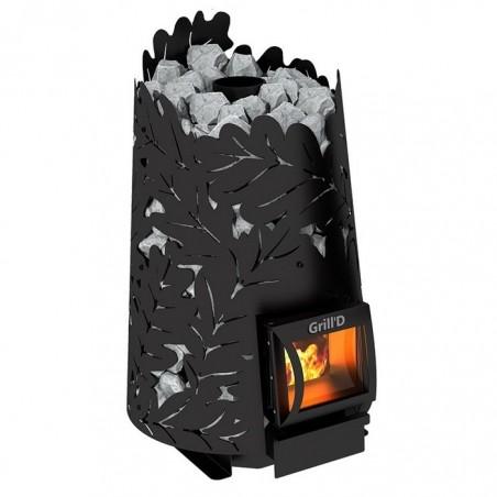 Печь для сауны Grill'D на дровах Dubravo 180 Short black