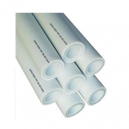 Труба Supratherm ППР 20 (полипропиленовая белая с базальтовой вставкой Carbon)