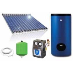 Pachet solar 20 tuburi vidate CU BOILER 200L 3-5 persoane